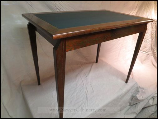 Custom Made Leather Top Oak Ladies Writing Desk