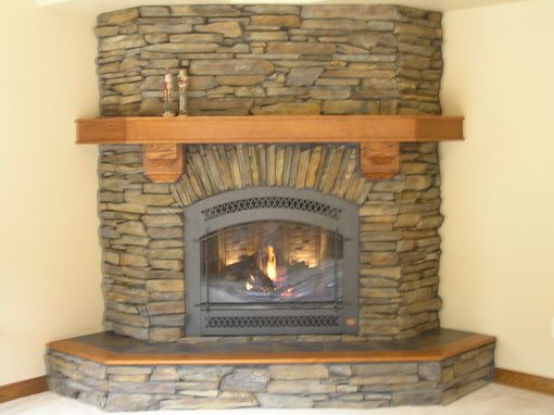 Custom Made Custom Wrap-Around Oak Mantel