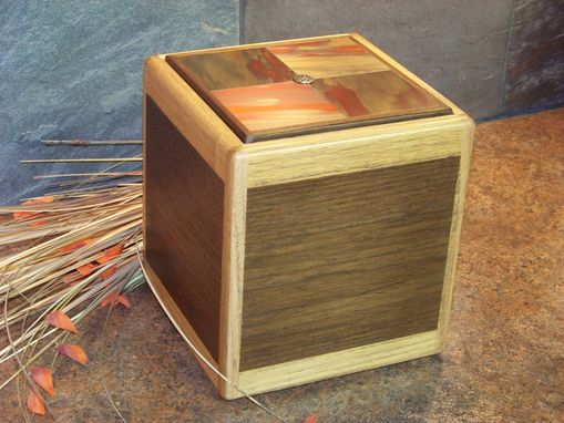 Custom Made Wood Cremation Urn