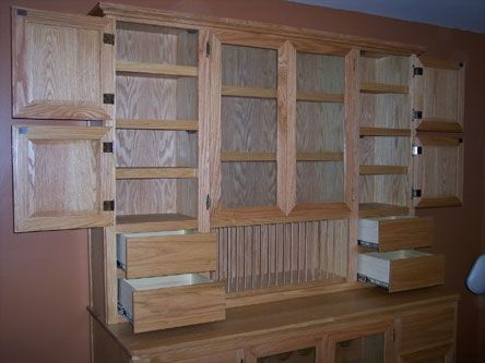 Custom Made Oak Hutch