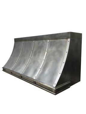 Custom Made #19 Custom Zinc Range Hood With Decorative Molding