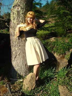 Custom Made Vintage Inspired Pleated Full Skirt Any Size And Color