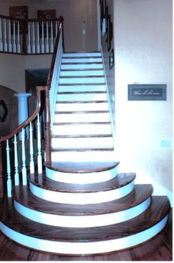 Custom Made Brazilian Tigerwood Staircase
