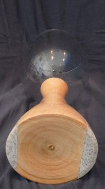 Custom Made Ash And Corion Based Wine Glass