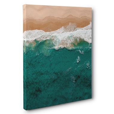 Custom Made Ocean Beach Photography Canvas Wall Art