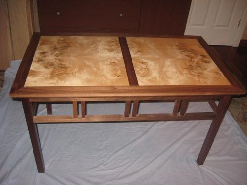 Custom Made Myrtle Wood  Custom Coffe  Table .