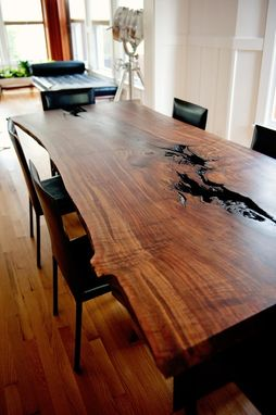 Handmade Live Edge Modern Walnut Dining Table By Taylor