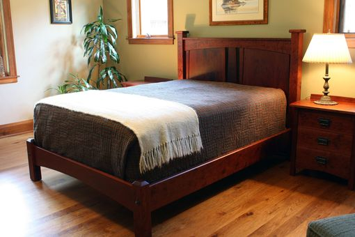 Custom Made Bungalow Style Headboard With Footboard