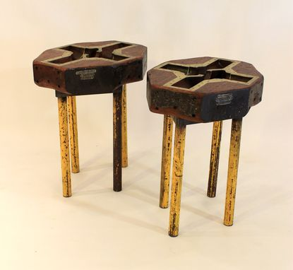 Custom Made Et-55 & Et-56 Foundry Mold End Tables