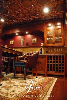 Custom Poker Room Wine Cellar By Javier Santiago Studio