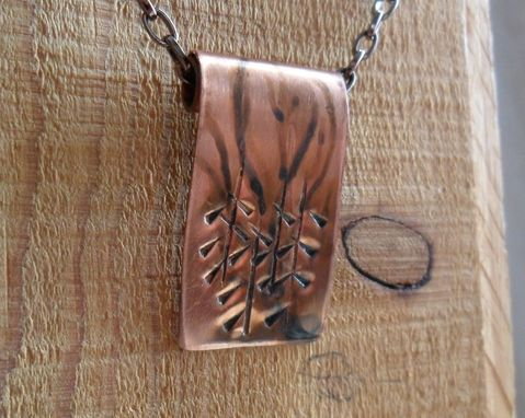 Custom Made Handcrafted Rolled Copper Necklace
