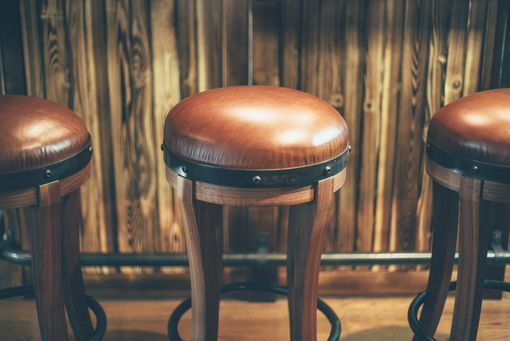 Custom Made Stockhouse Barstool - Premium Leather, Walnut, & Steel