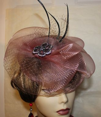 Custom Made Gorgeous Fascinator Hat For Cocktail