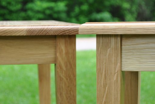 Custom Made White Oak Side Tables