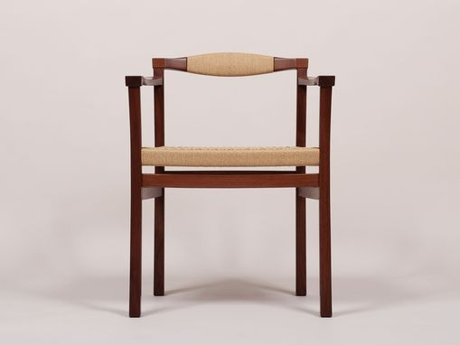 Custom Made Black Walnut Armchair