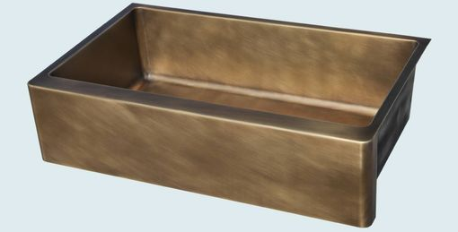 Custom Made Bronze Sink With Apron