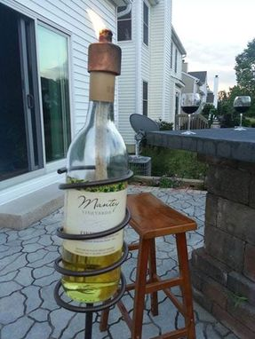 Custom Made Wine Bottle Tiki Lamp Kit