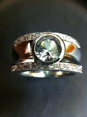 Custom Made White Zircon Ring