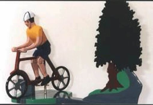 Custom Made Man Or Woman Bicycle Whirligig