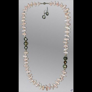 Custom Made Miro Pearl Necklace & Earrings Set
