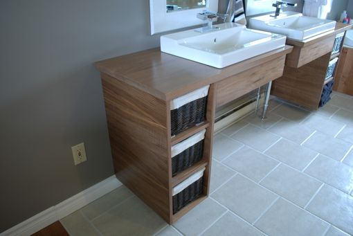Handmade Custom Floating Bathroom Vanities By Clark Wood