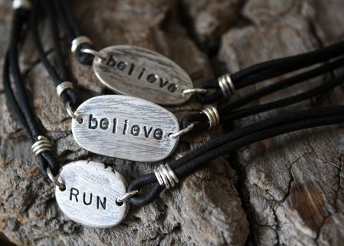 Custom Made Personalized Rustic Pebble Bracelet - Fine Silver