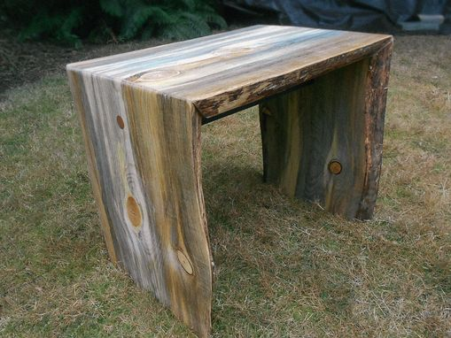Custom Made Pine Double Waterfall Side Table
