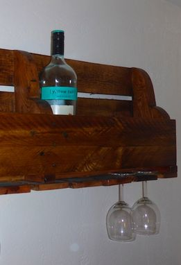 Custom Made Distressed Wine Rack