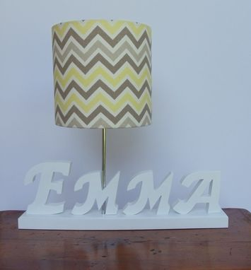 Custom Made Handmade Wooden Name, Word Or Initial Lamps
