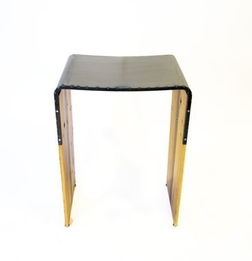 Custom Made Industrial Steel And Wood Bar Stool
