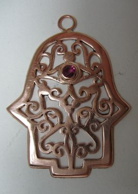 Custom Made Filigree Style Silver Hamsa