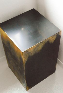 Custom Made Modern Decorative End Table Or Art Stand