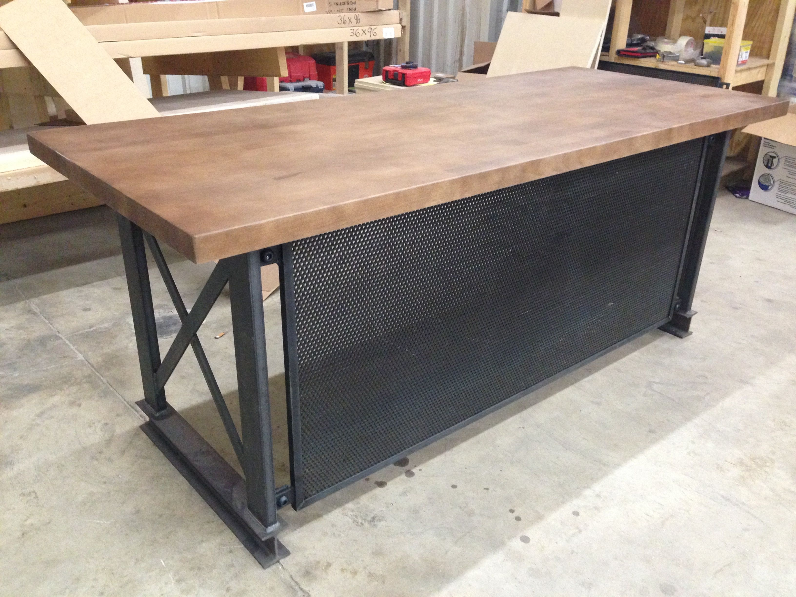 Buy a handmade the industrial carruca office desk made to order from iron age office - Custom office desk ...