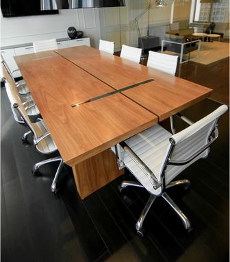 Custom Made Cherry Wood Conference Table