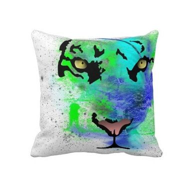 Custom Made Urban Tiger Throw Pillow (Regular Or Lumbar)