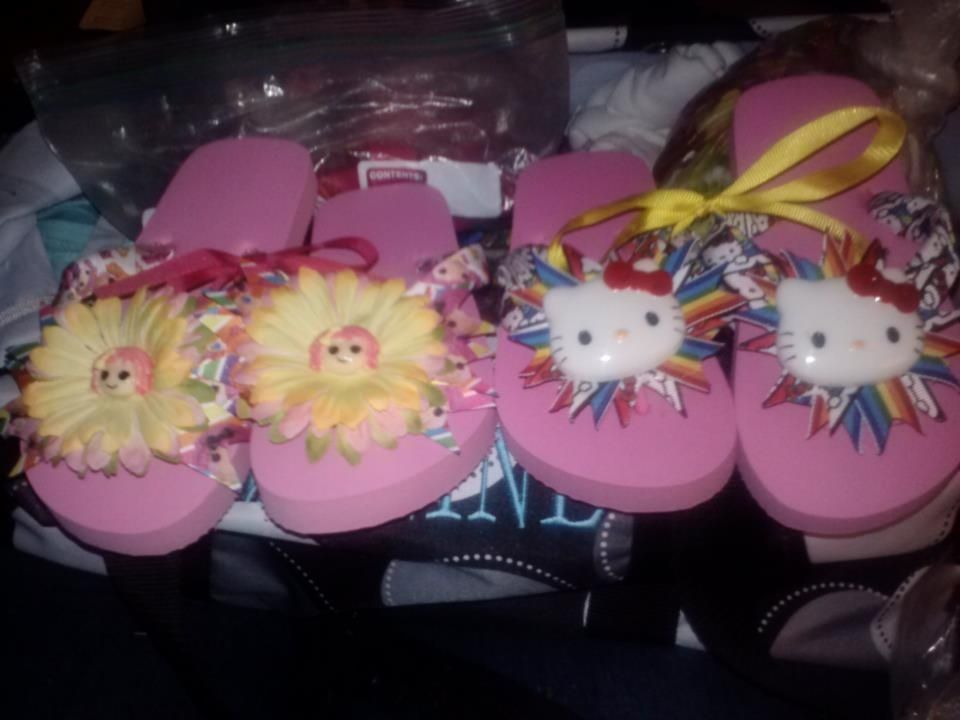 69a54be83 Hand Made Custom Made Flip Flops by Chrytstal s Princess Treasures ...