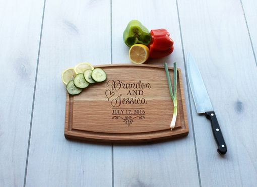 Custom Made Personalized Cutting Board, Engraved Cutting Board, Custom Wedding Gift – Cba-Wo-Brandonjessica