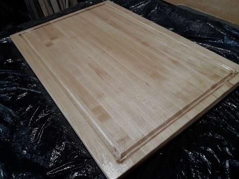 Custom Made All Solid Maple Cutting Board With Juice Groove