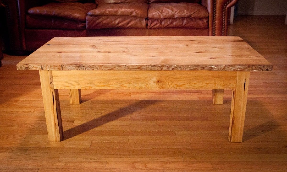 Handmade Rustic Coffee Table By Lone Star Artisans CustomMadecom - Rustic light wood coffee table