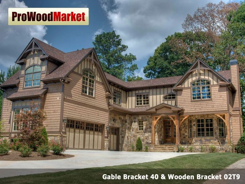 Hand crafted wooden bracket 10t9 gable bracket 40 and for Cedar gable brackets