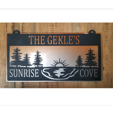 Custom Made Double Layer Aluminum Plate Sign