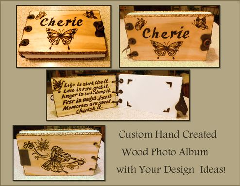 Custom Made Wood Journal,Journal,Wood Photo Album,Wood Books,Coffee Table Book,Wedding Guest Book