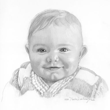 "Custom Made Portrait Of Baby, 8"" X 8"""