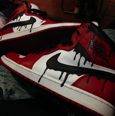 Custom Made Drip-Air-Jordan-1-Chicago-Custom