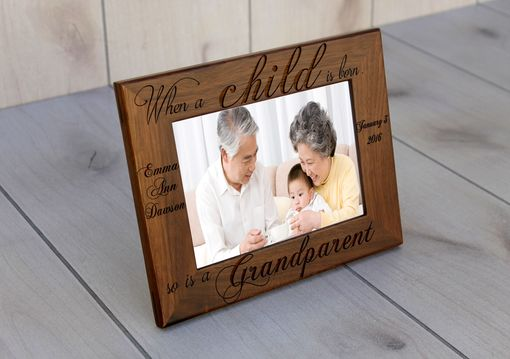 Custom Made Custom Engraved Picture Frames -- Pf-Wal-When A Child Is Born