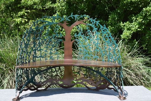 Custom Made Tree Of Life Garden  Steel-Metal Bench