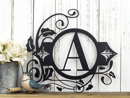 Custom Made Monogram Metal Wall Art | Custom Sign | Monogrammed Sign | Personalized | Wedding Gift