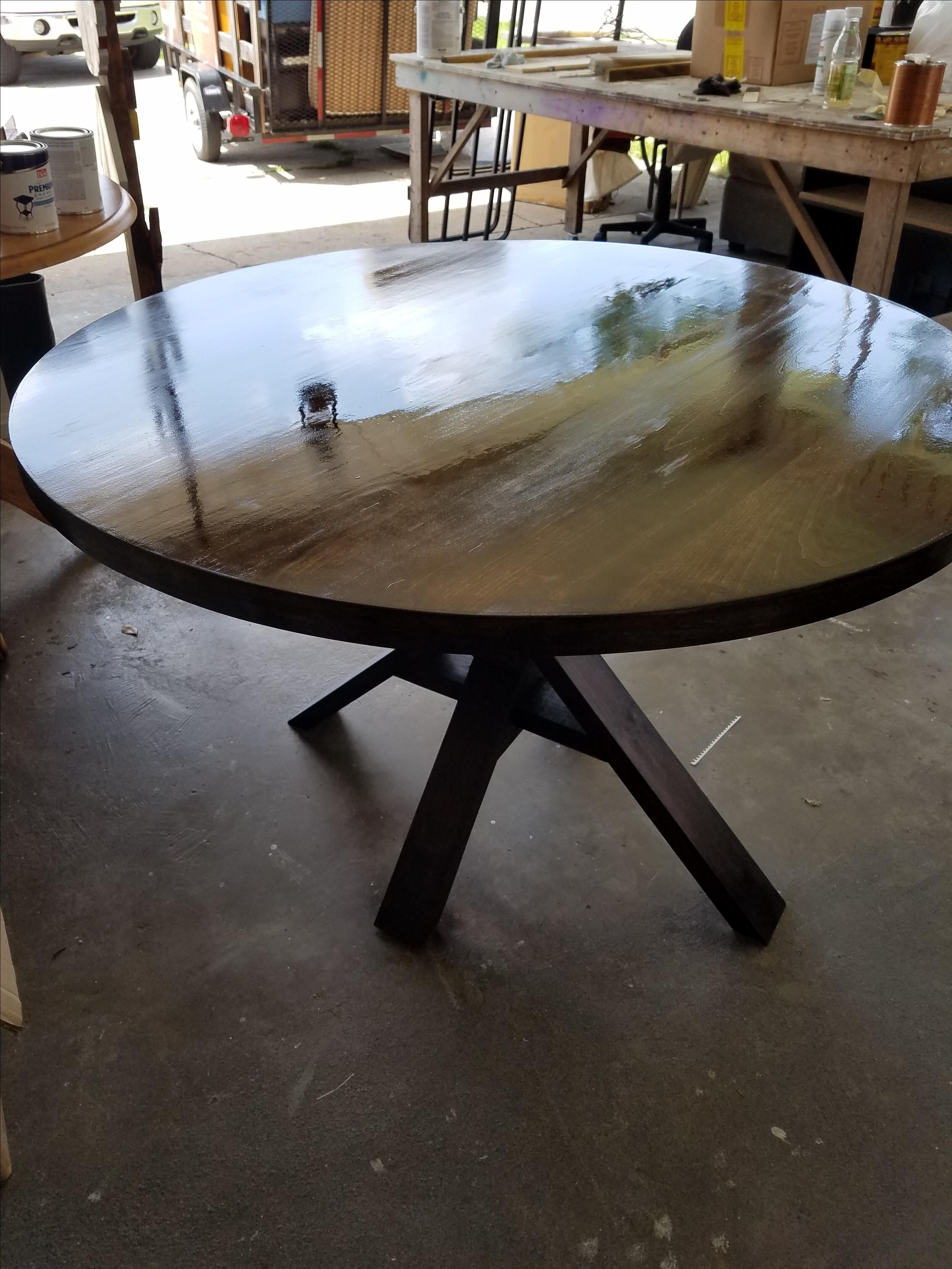 Peachy Custom Made 5 Foot Round Dining Table By Big Daddy Woodworks Download Free Architecture Designs Xoliawazosbritishbridgeorg