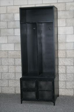 Custom Made Mudroom Locker, Vintage/Modern Industrial Style, Reclaimed Wood Available.