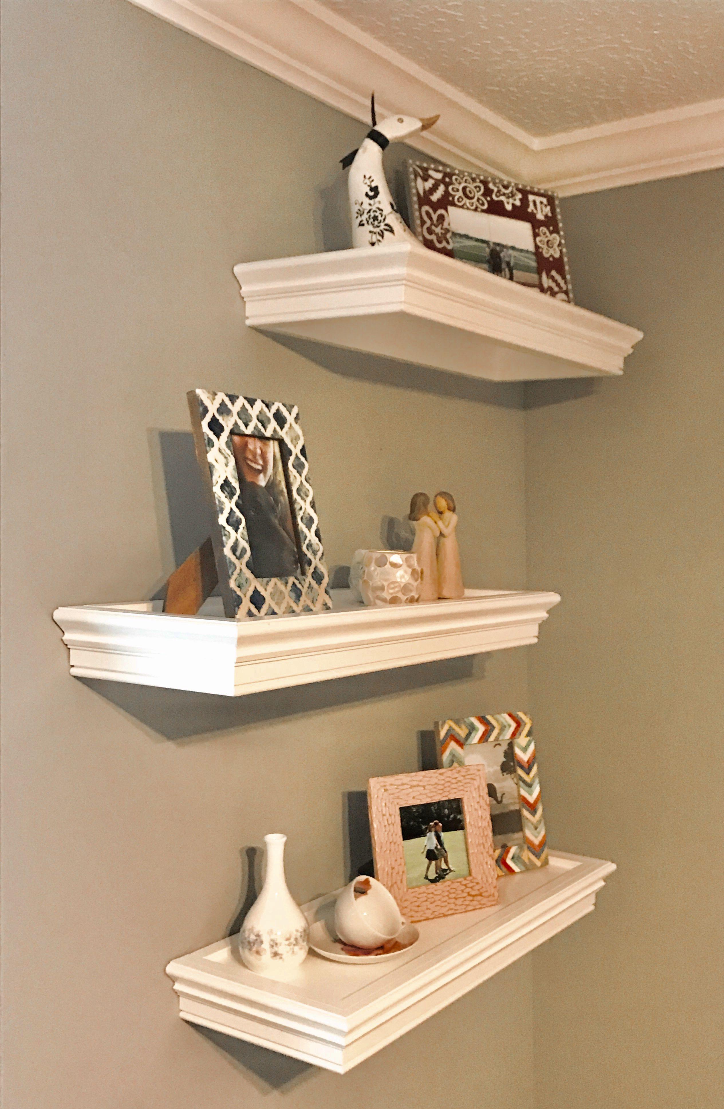 Custom Made White Floating Shelves